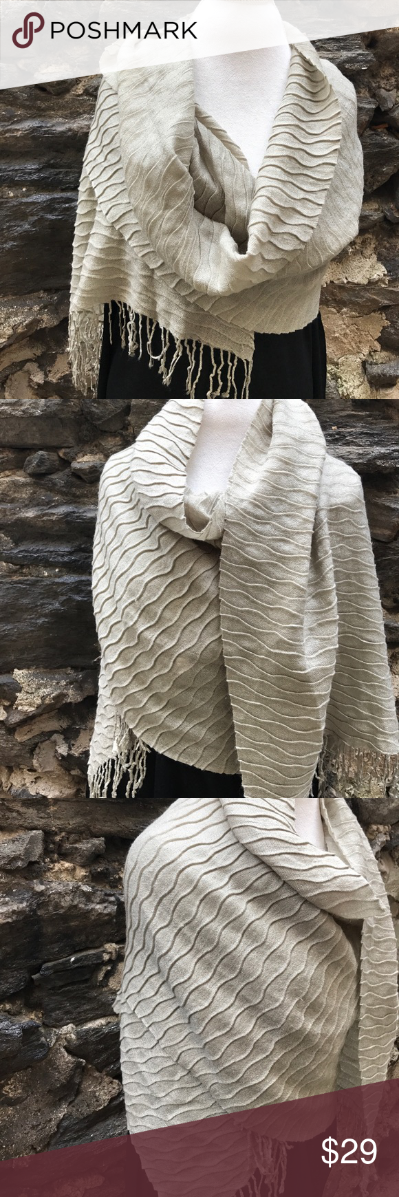 Echo Evening Cocktail Shawl / Wrap in Taupe Echo Evening Cocktail Shawl / Wrap in Taupe Echo Accessories Scarves & Wraps