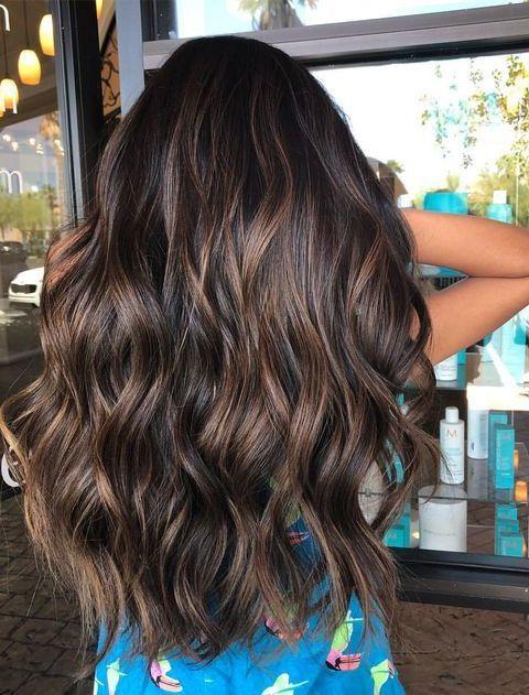 34 Get Inspired Dark Brown Hair Color Ideas For Pretty Women Dark Brown Hair Color Brown Ombre Hair Brunette Hair Color
