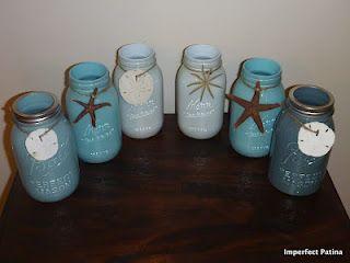 Imperfect Patina Mason Jar Project Beach Mason Jars Mason Jar Diy Mason Jar Projects