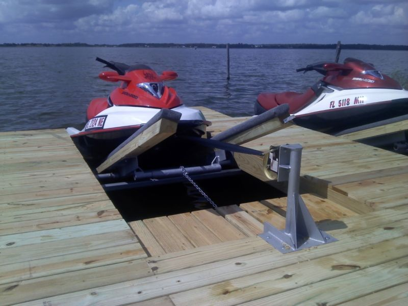 DIY Double PWC Dock KIT (Floating) Boat Dock with Swim Platform   Floating boat, Boat dock and ...