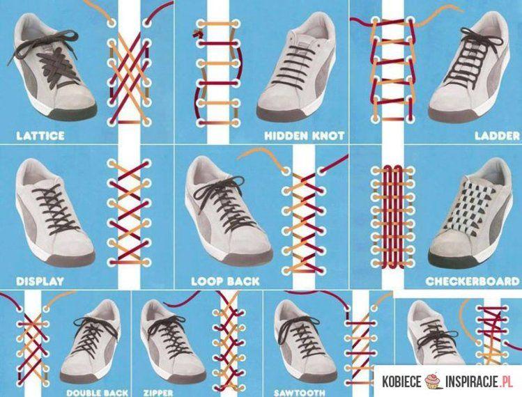 Jak Wiazac Sznurowki Ways To Lace Shoes Ways To Tie Shoelaces Shoe Lace Patterns