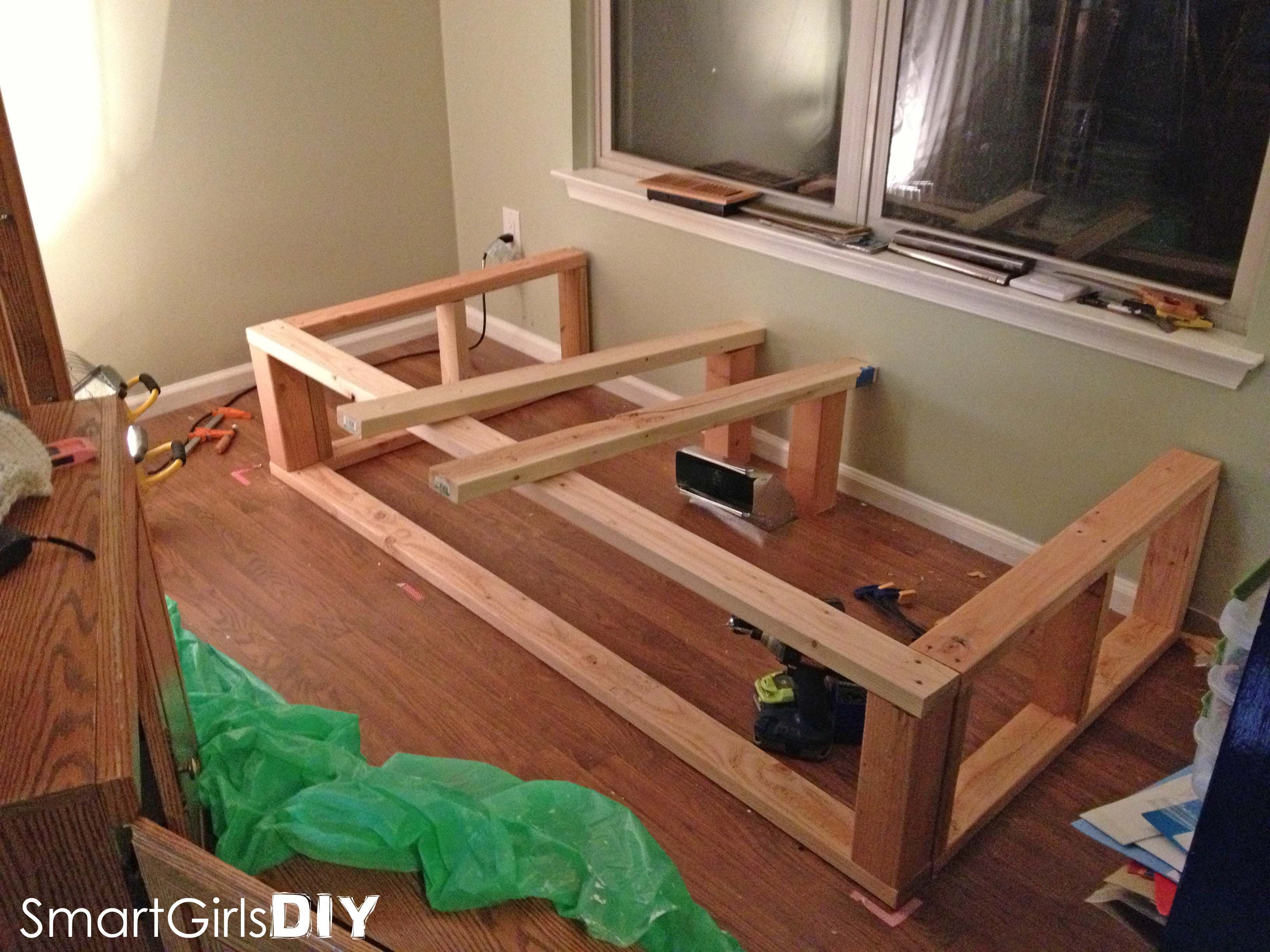 building the frame day bed window seat