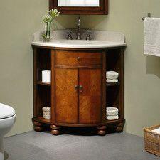 Attractive Xylem Carlton Inch Corner Bathroom Vanity Set Within White Corner Bathroom  Vanity Prepare