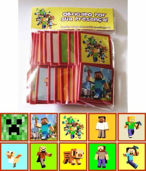 Minecraft Jogo Da Memoria No Elo7 Marga Personalizados 3150dd Minecraft Jogos Personalizado