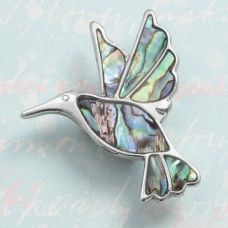 Paua shell hummingbird brooch, £10.00