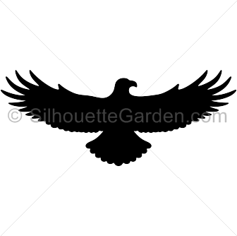 Flying eagle silhouette clip art. Download free versions of the ...