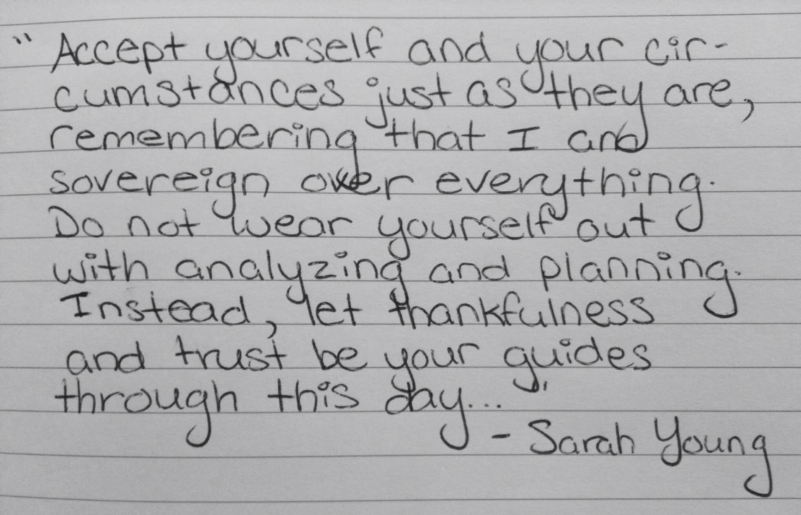 Thankfulness and Trust || Sarah Young