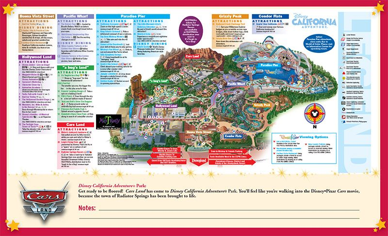 California Adventure Map Big Disney Pinterest Disney