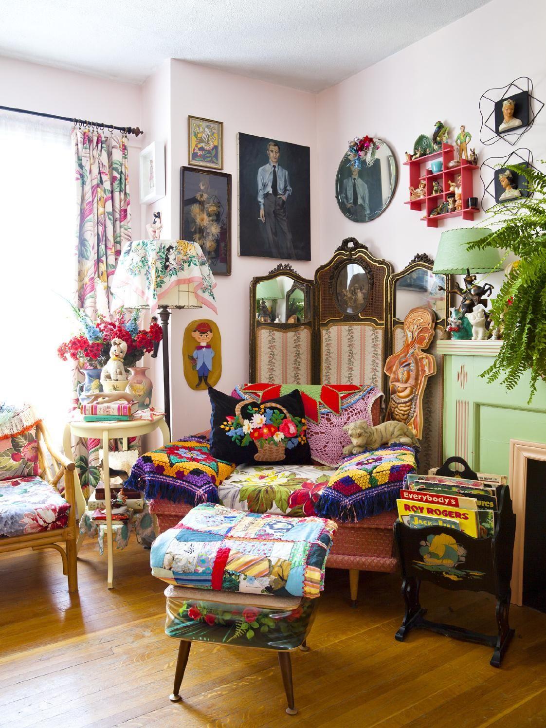 issuu issue26 de covet garden boho living room eclectic home maximalist decor on boho chic decor living room bohemian kitchen id=75481