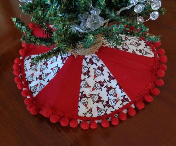 Reversible Santa Christmas Tree Skirt Small Tree Skirt Kids Manualidades Navidenas Pies De Arbol Navidenos Decoracion Navidad