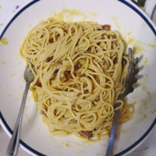"Photo of Noodloves.it on Instagram: ""Homemade Carbonara 🥚🥓❤️"""
