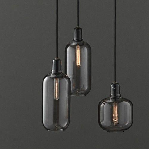 amp lamp small grey black normann copenhagen bij emma b. Black Bedroom Furniture Sets. Home Design Ideas