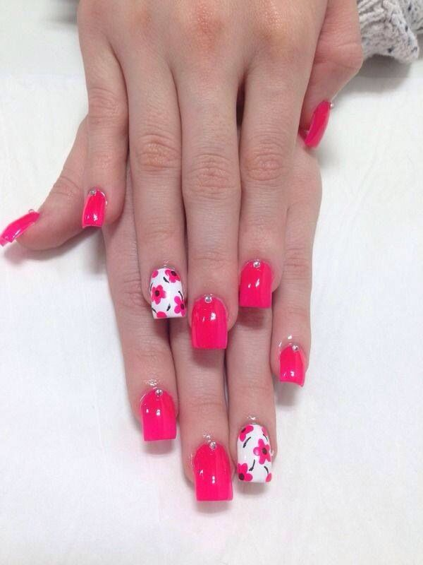 Fucsia lover | Uñas | Pinterest | Nails inspiration, Mani pedi and Pedi