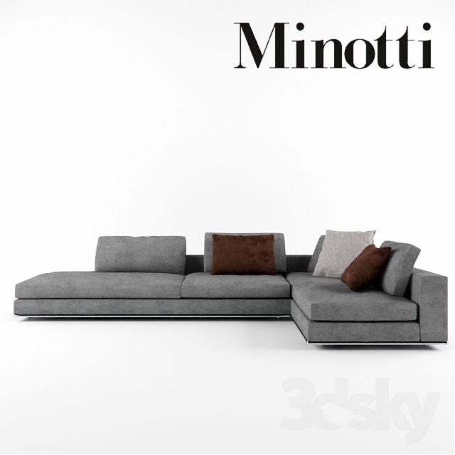 Minotti hamilton 3d model pinterest mobilier de salon mobilier et maison - Meubles minotti ...