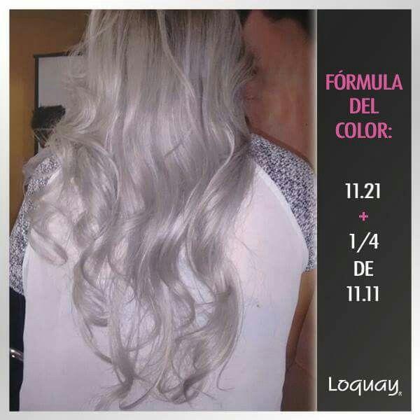 Color Platino Ceniza Fórmulas Para Color De Cabello Técnicas De Color Para Cabello Coloración De Cabello