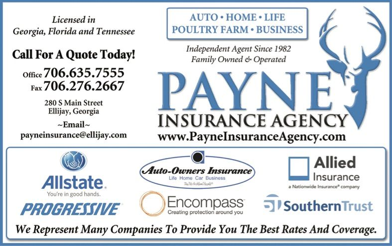 Independent Agent Since 1982 Ellijay Georgia Payne Insurance Agency Ellijay Georgia Georgia Ellijayga Shoploca Ellijay Business Insurance Ellijay Georgia