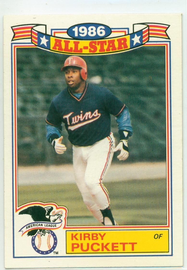1987 Topps AllStar Kirby Puckett Baseball cards