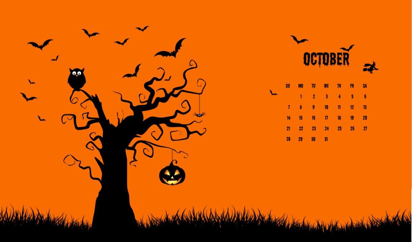 October 2018 Halloween Calendar Wallpapers Halloween
