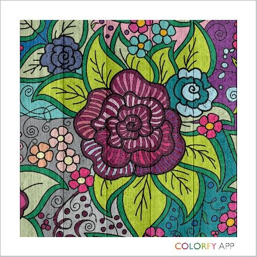 Coloring...the meditation of a modern world. Colorfy app.