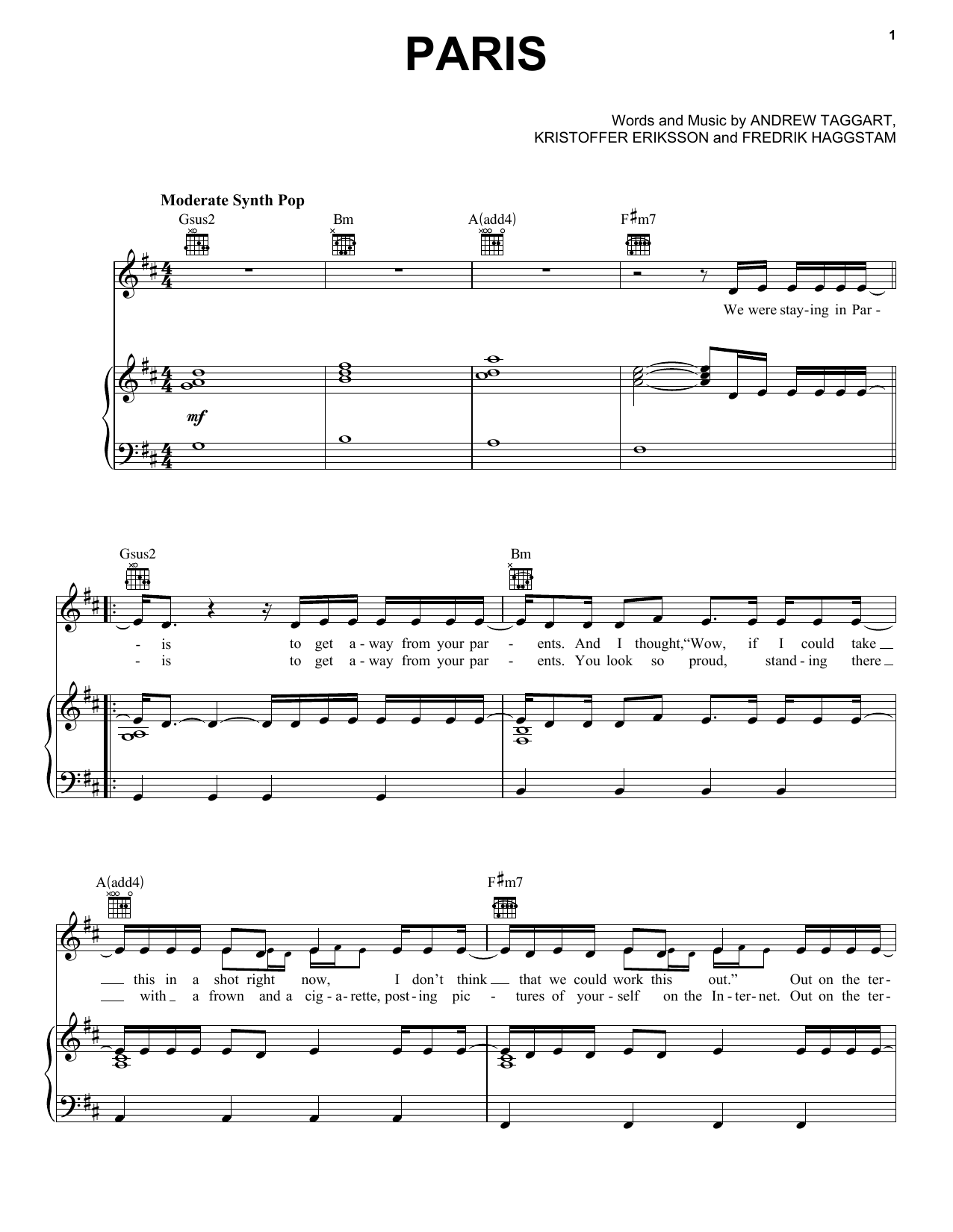 The chainsmokers paris sheet music notes paris noten pinterest the chainsmokers paris sheet music notes chords hexwebz Image collections