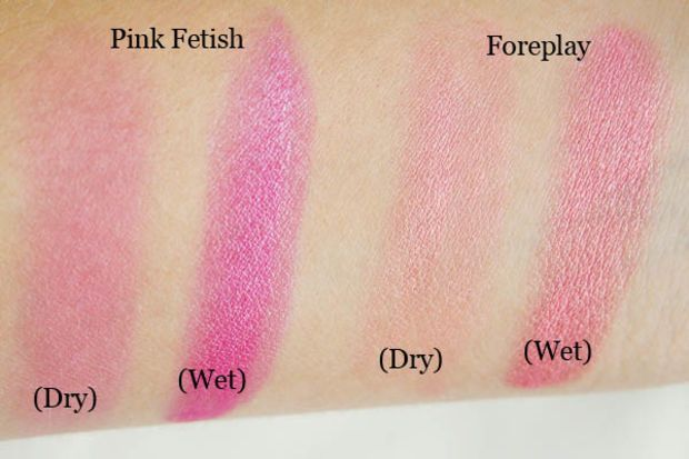 Nyx Baked Blush Swatches Pink Fetish Is A Magenta And Is
