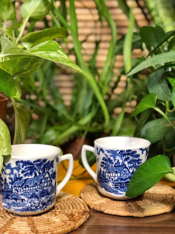 Vintage Jg Meakin Romantic England Set Of 2 Etsy Antique Tea Cups Antique Tea Vintage Coffee