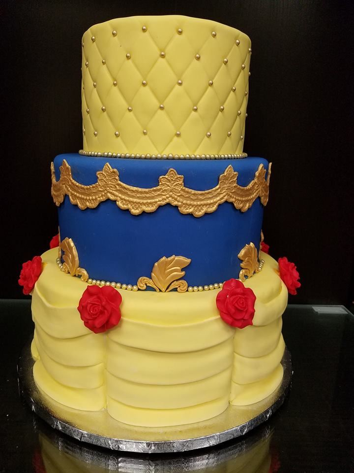 Beauty and the Beast Wedding Cake   Character Cakes   Pinterest ...