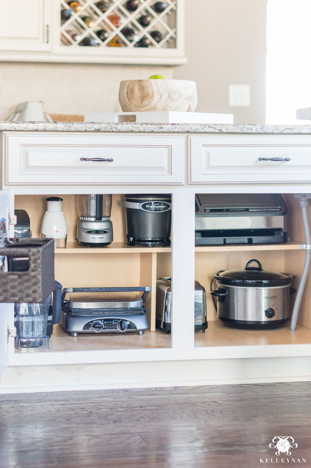 Organization Ideas For A Kitchen Cabinet Overhaul Kelley Nan Kitchen Appliances Organization Kitchen Appliance Storage New Kitchen Cabinets