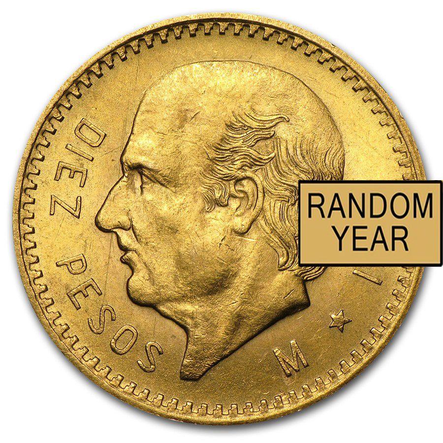 10 Peso Mexican Gold Coin Random Year Gold Coins Coins Gold Bullion Coins
