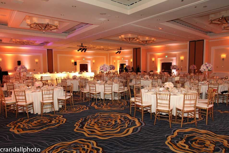 Ballroom At Laguna Cliffs Marriott Set Up For The Wedding