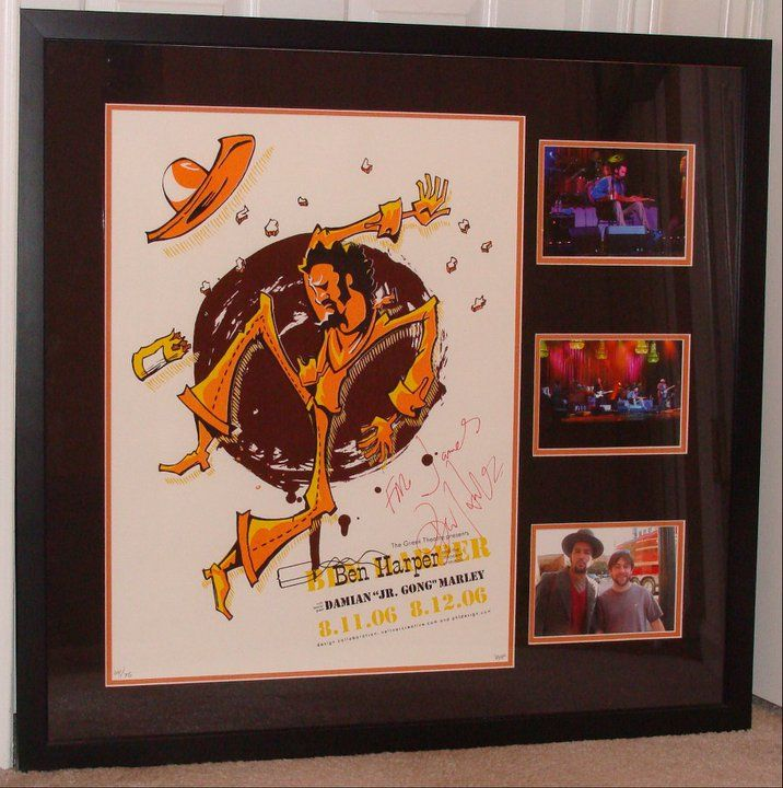 This Is A Ben Harper Poster By Powerhouse Factories Signed To My On