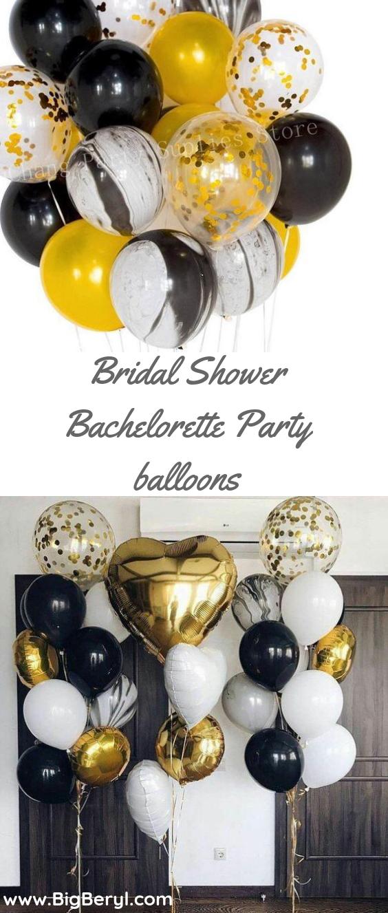 Black White Marble Gold Confetti Balloons Wedding Party Decoration 20 Pcs Set Confetti Balloons Wedding Balloon Decorations Party Confetti Balloons
