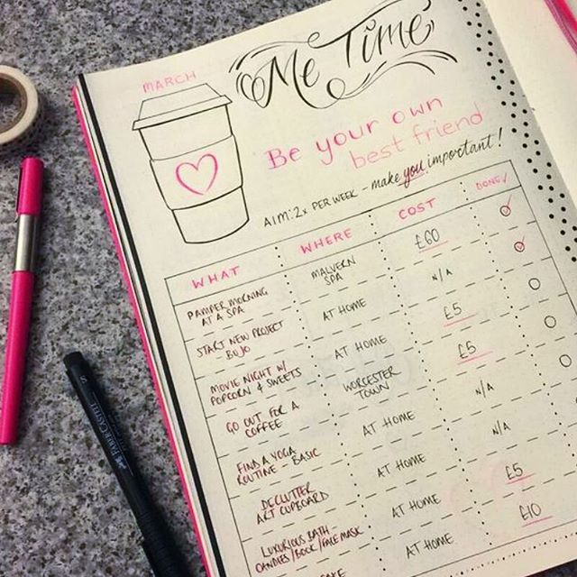 Bullet Journal Mental Health Layouts {Make self-care your priority for 2020!}