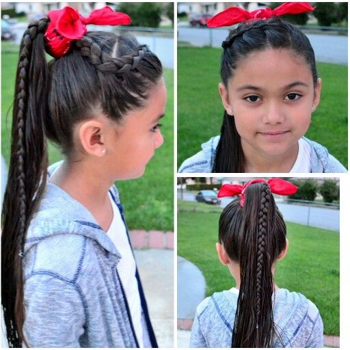 Side Braid Into High Ponytail Then Wrap Bandana Around Follow Me Instagram