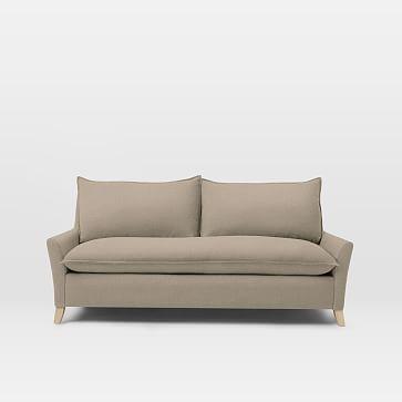 Bliss Queen Sleeper Distressed Velvet Light Taupe Ash Sofa Sofa Furniture Sleeper Sofa