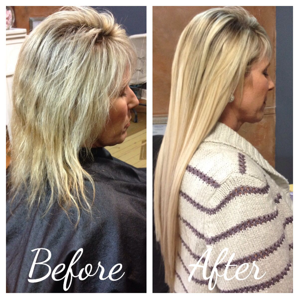 Before And After Hair Extensions Keratin Complex Shear Power