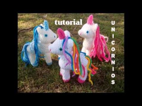 Unicornios tejidos a crochet (amigurumi unicorns) - YouTube ...