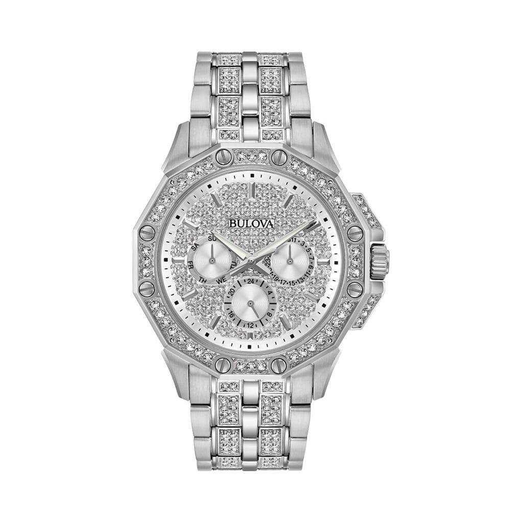 f335ffc7e2538 Bulova Men's Octava Crystal Stainless Steel Watch - 96C134 ...