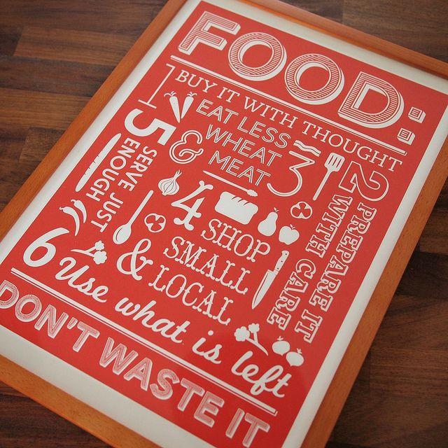 les 25 meilleures id es de la cat gorie affiches de nourriture sur pinterest conception. Black Bedroom Furniture Sets. Home Design Ideas