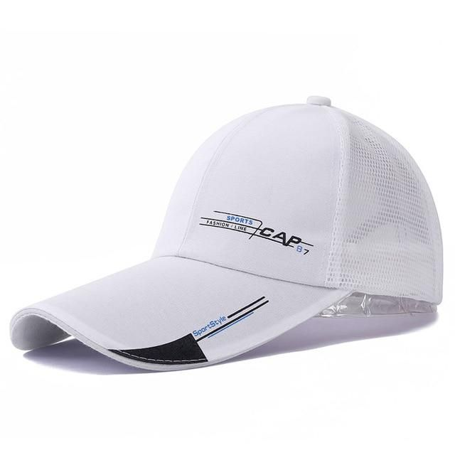 513cb44ab1d High Quality Long Brim Shade Snapback Sports Cap Men Women Hat For Fish  Outdoor Mesh Baseball