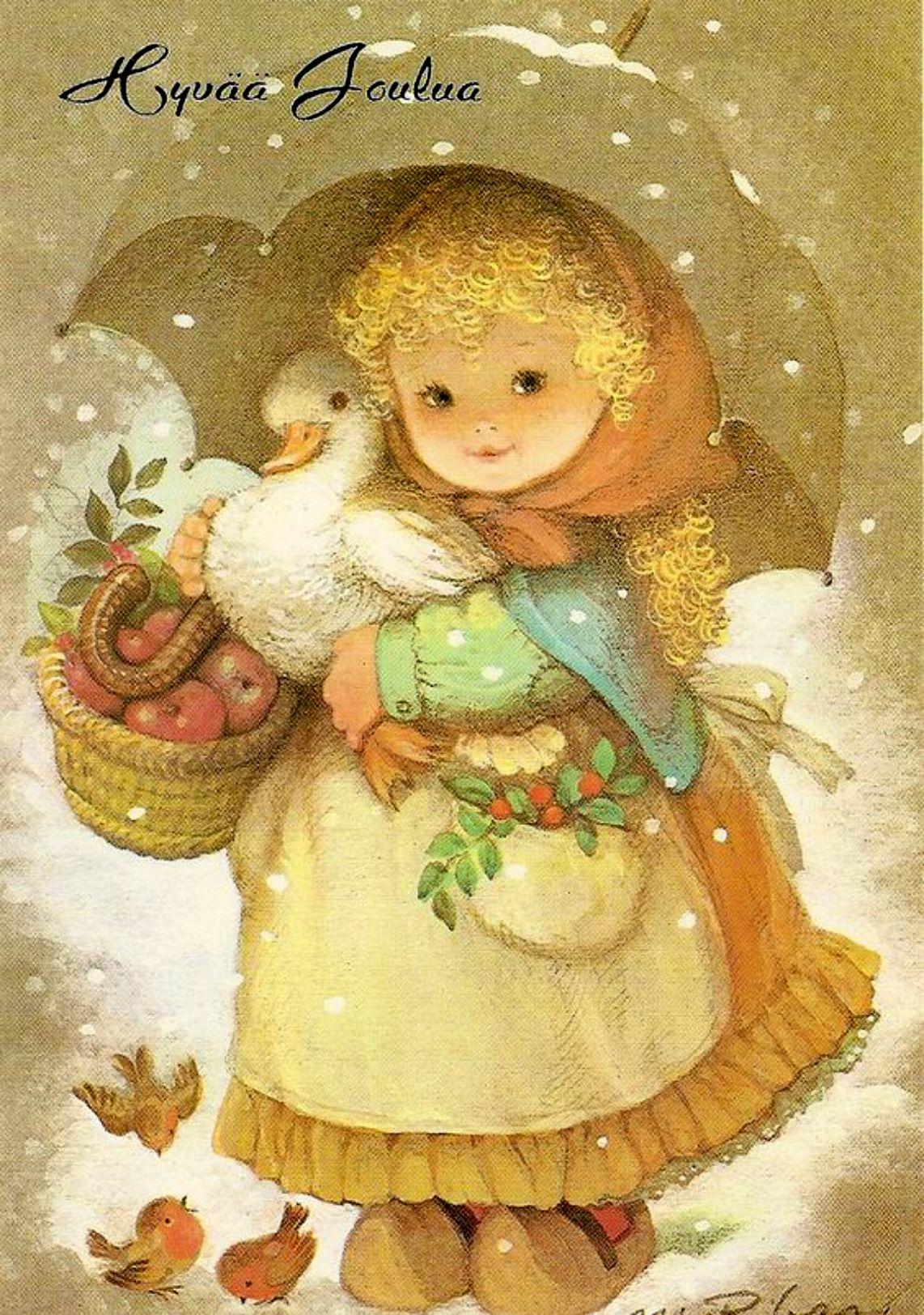 есть авторские рождественские открытки мой