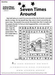 Jericho Worksheet Bible Activities For Kids