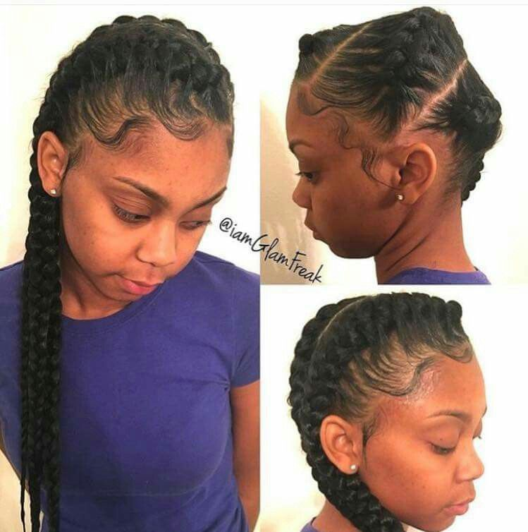 Don T Know What To Do With Your Hair Check Out This Trendy Ghana Braided Hairstyle African American Hairstyle Videos Aahv Goddess Braids Hair Styles Goddess Braids Hairstyles