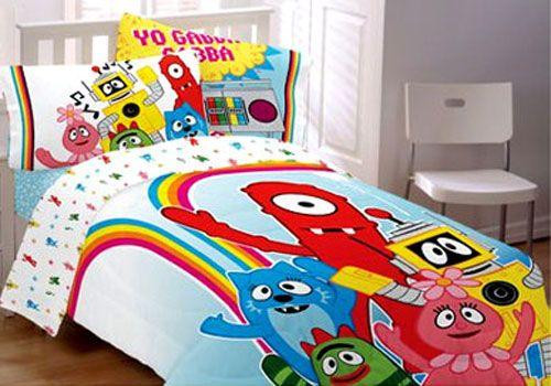yo gabba gabba bedding set brobee comforter sheets twin bed for