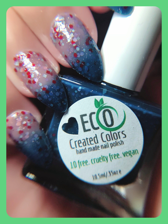 Blue Glitter Thermal Color Changing Nail Polish Blue To Etsy Nail Polish Free Nail Polish Color Change Nail Polish