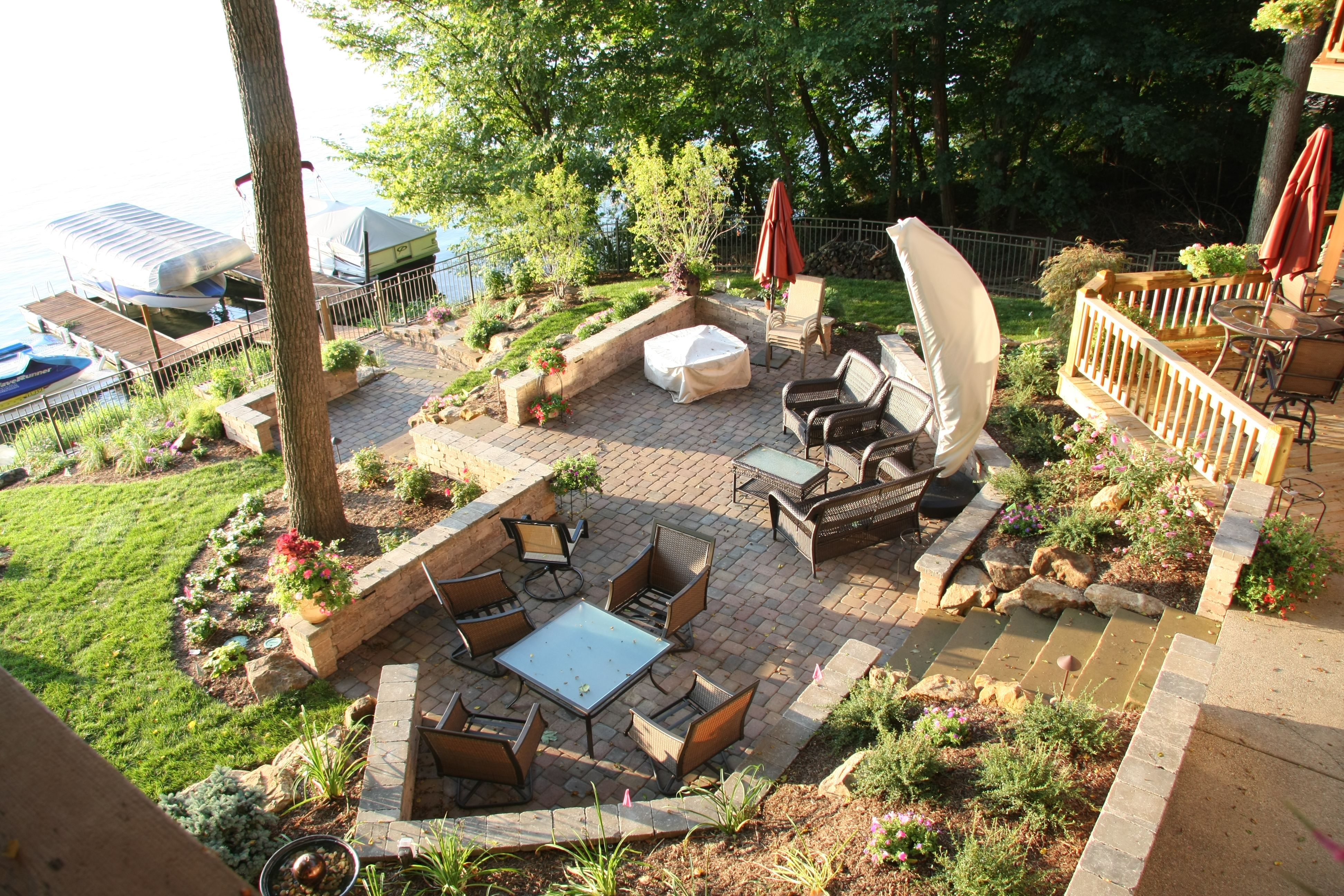 Lake side retreat. Making a sloping backyard usable with ...