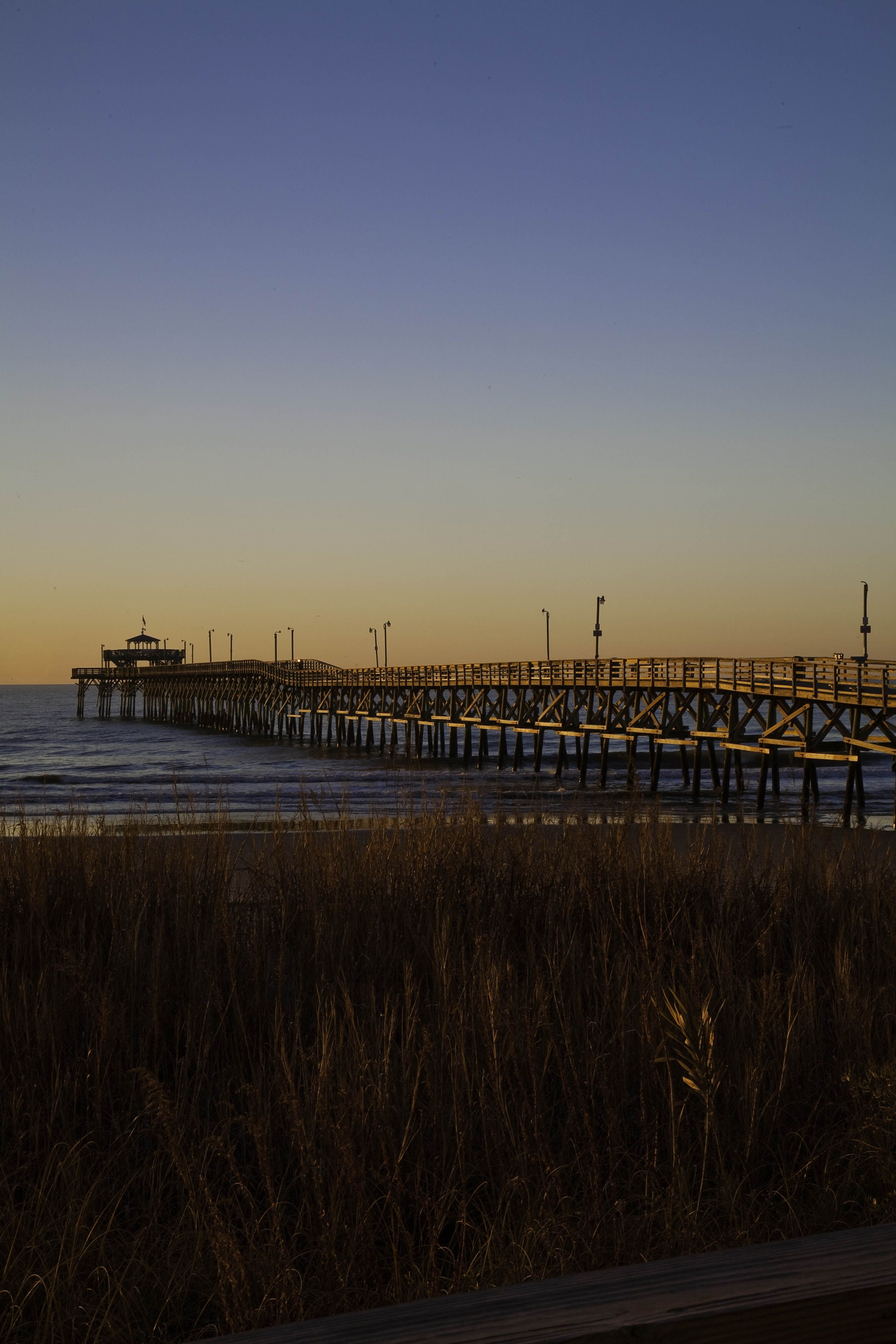 A Beautiful Sunset At The Cherry Grove Pier As Viewed From Prince Resort In North Myrtle Beach South Carolina