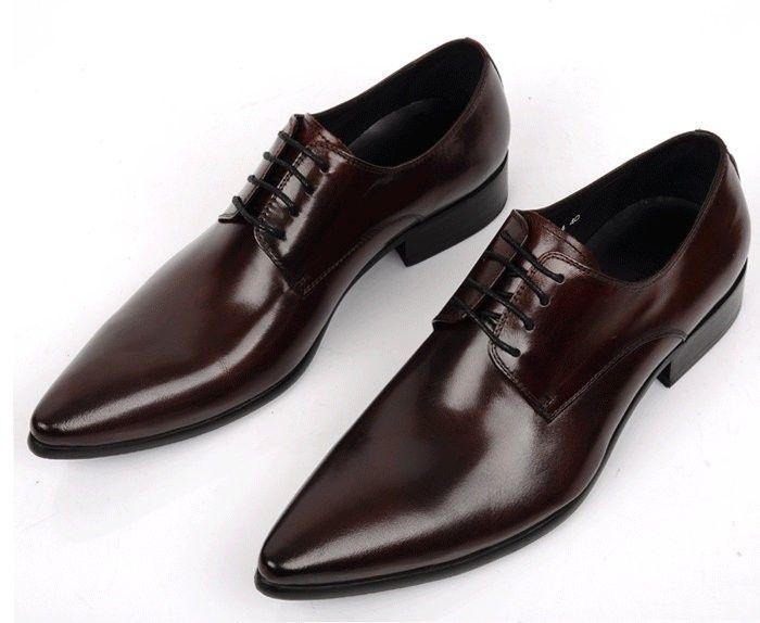2015 Mens shoes Designs fashion party style genuine leather men dress shoes  pointed toe black men wedding shoes men shoes oxford4 a45a3800ca3