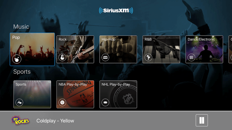 SiriusXM now streams radio stations to your Apple TV Tv