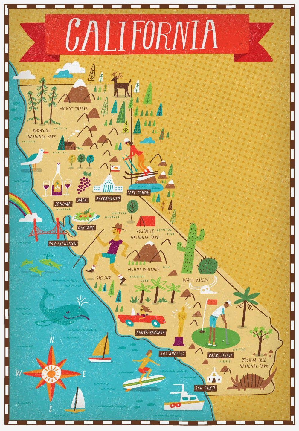 I Draw Maps California California Map Travel Maps Map Art